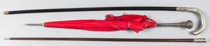 Silverplated umbrella handle