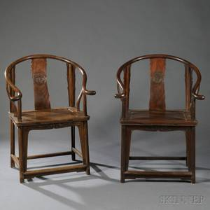 Pair of Jichimu Horseshoeback Armchairs