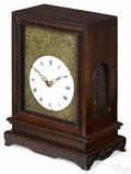 Chinese carved hardwood bracket clock 19th c