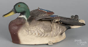 Papiermch flapomatic mallard duck decoy