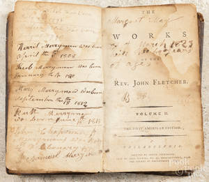 Leatherbound book  The Works of the Rev John Fletcher