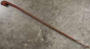 Carved folk art cane