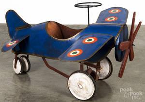 Pressed steel monoplane pedal car