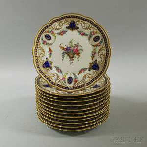 Set of Twelve Continental Porcelain Plates
