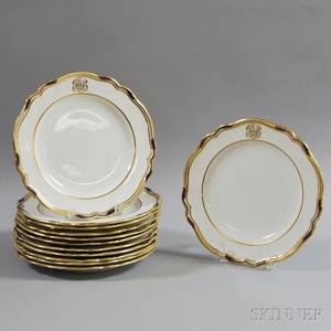 Set of Twelve Copeland Porcelain Plates