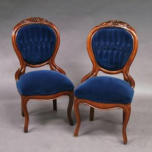 Pair of Victorian Rococo Revival Side Chairs