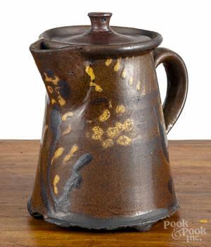 Redware teapot