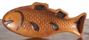 Redware fish mold