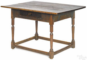 New England Pine tavern table late 18th c