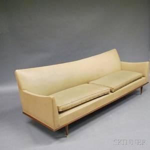 Midcentury Modern Leatherupholstered Sofa
