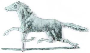 Swellbodied copper running horse weathervane 19th c
