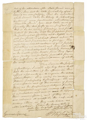 George Washington signed letter written from