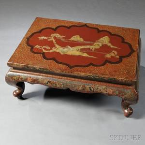 Red Lacquer Low Table