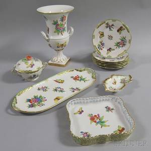 Eleven Pieces of Herend Porcelain