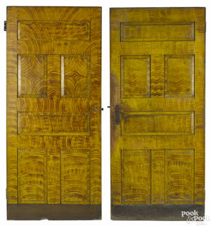 Two Mahantongo Valley Pennsylvania painted doors
