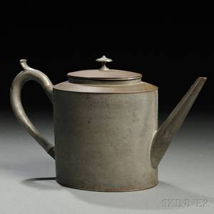 Shaker Tin and Pewter Teapot