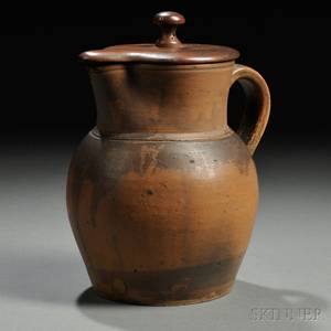 Stoneware Pitcher with Shakermade Wooden Cover