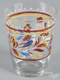 Stiegel type enameled glass