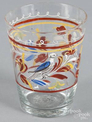 Stiegel type enameled glass