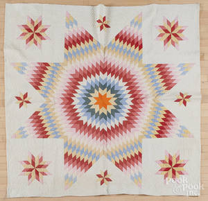 Pieced Bethlehem star quilt