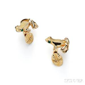 18kt Gold Cuff Links Tiffany  Co