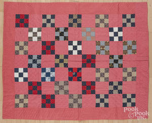 Pennsylvania pieced block pattern quilt