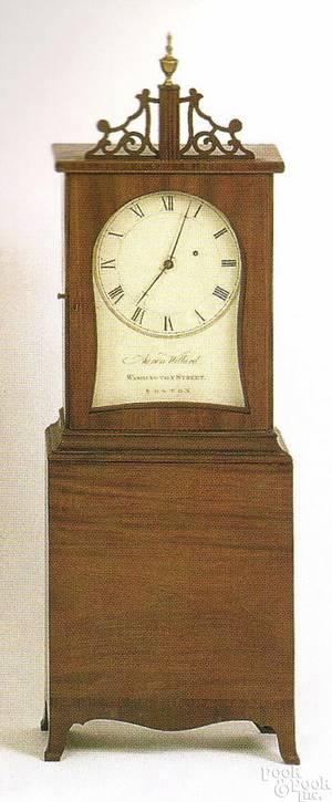 New England mahogany shelf clock ca 1810