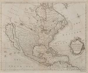 North and South America Two Maps Richard William Seale 17031762 A Map of North America