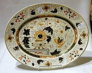 English ironstone platter late 19th c