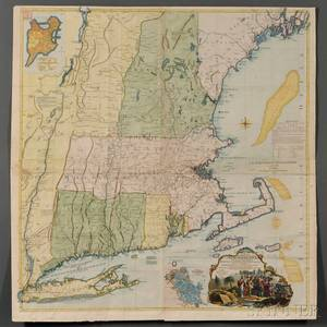 New England Braddock Mead c 16881757 and Thomas Jefferys 16951771 A Map of the most Inhabited part of New England