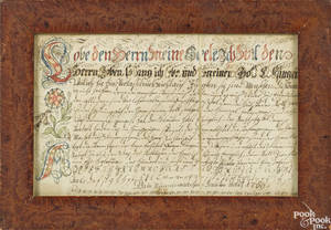 Pennsylvania watercolor and ink Vorschrift dated
