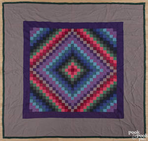 Lancaster County Pennsylvania Amish sunshine and shadows quilt ca 1940