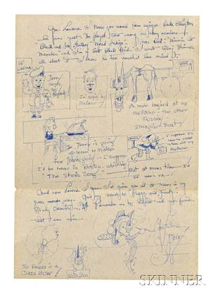 Kline Franz 19101962 Autograph Letter Signed with Drawings and Envelope 18 November 1931