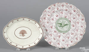 Two American eagle decorated tablewares 19th c