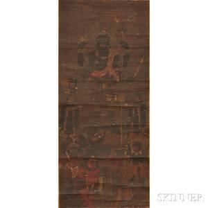 Buddhist Painting Depicting Fourarmed Kundali