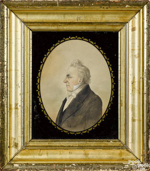 American watercolor portrait of President James Buchanan