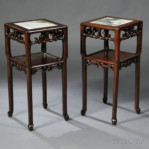 Pair of Marbletop Stands