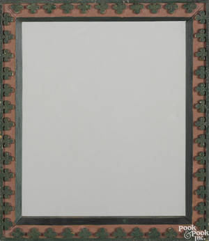 Pennsylvania carved and painted frame 19th c