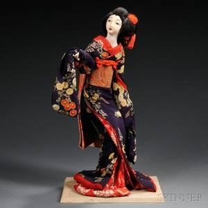 Japanese Costume Doll Geisha or Bijin