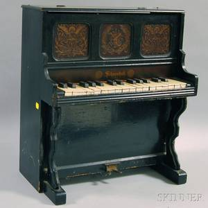 Schoenhut Blackpainted Toy Piano