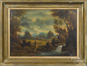 Old Masters style oil on canvas landscape