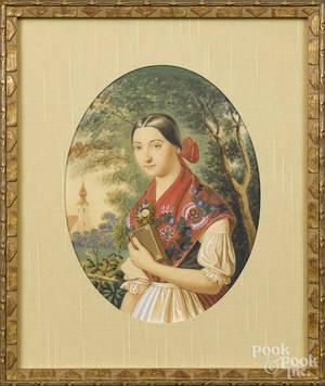 Hungarian watercolor portrait