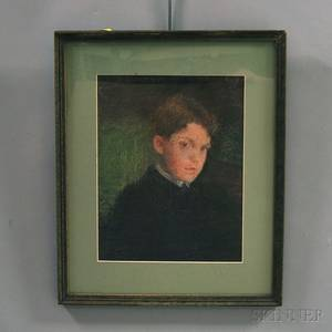 Attributed to Gardner Cox American 19061988 Portrait of a Boy
