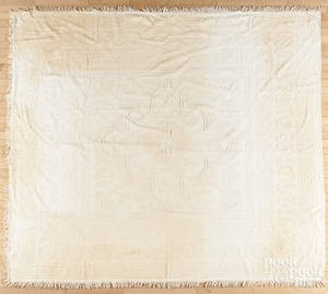 New England whitework bedspread