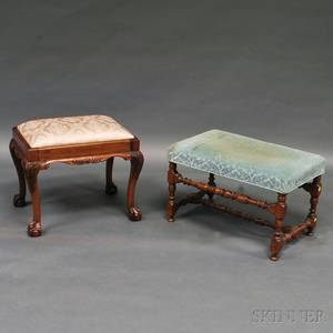 Chippendalestyle Stool and a William and Marystyle Stool