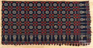 Collection of woven coverlets