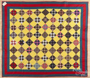 Pennsylvania ninepatch quilt