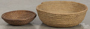 Large Pennsylvania painted rye straw basket