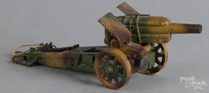 Painted tin plate field gun