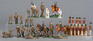 Trico and German composition toy soldiers